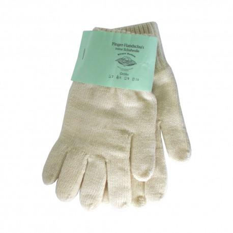 Fingerhandschuh reine Schurwolle natur