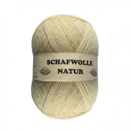 Schurwolle 100% Schafwolle natur-weiß 6f NS5