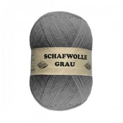 Schurwolle 100% Schafwolle grau 3f NS3