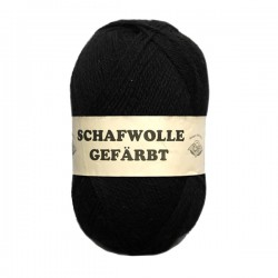 Schurwolle 100% Schafwolle schwarz gefärbt 3f NS3-4