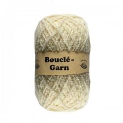 Schurwolle 100% Schafwolle Bouclegarn natur 1f NS2-3