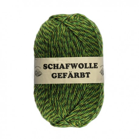 Schurwolle 100% Schafwolle grün meliert 3f NS3-4