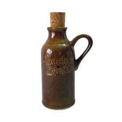 Lausitzer Leinöl Deko Tonflasche