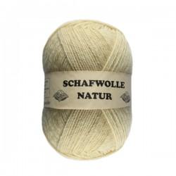Schurwolle 100% Schafwolle natur-weiß 4f NS4
