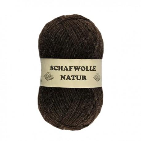 Schurwolle 100% Schafwolle braun 3f NS3