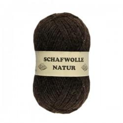 Schurwolle 100% Schafwolle braun 4f NS4
