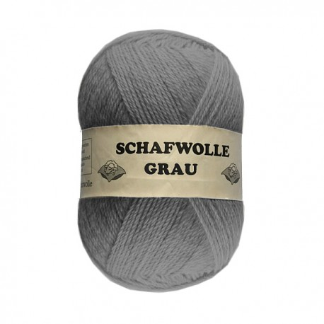 Schurwolle 100% Schafwolle grau 4f NS4