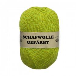 Schurwolle 100% Schafwolle gelb meliert 3f NS3-4