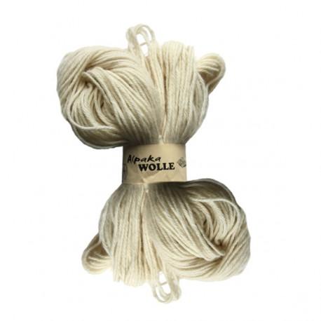 Schurwolle 100% Alpakawolle natur-weiß 4f NS3-4